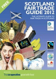 SCOTLAND FAIR TRADE GUIDE 2012 - University of St Andrews