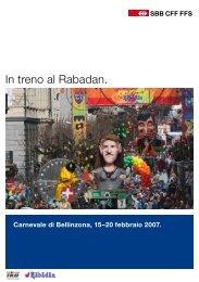 In treno al Rabadan. - Repubblica e Cantone Ticino