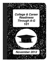 College & Career Readiness Through AG - Los Angeles Unified ...