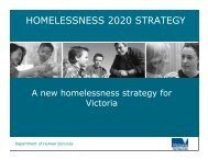 HOMELESSNESS 2020 STRATEGY - HomeGround Services