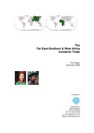 The Far East-Southern & West Africa Container Trade - Dynamar BV ...