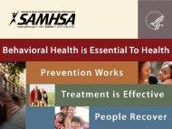 Behavioral Health and Tribal Communities - SAMHSA Store