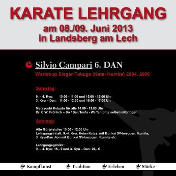 Karate Lehrgang mit Silvio Campari in Landsberg - YAMA