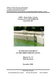 Report35 Water Management at the Directorate Level