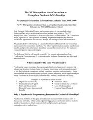 View Psychosocial Orientation Information for ... - Cornell CARES