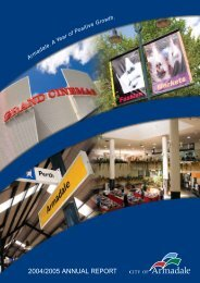 Annual Report 2004 - 2005 (PDF 1.05 MB) - City of Armadale