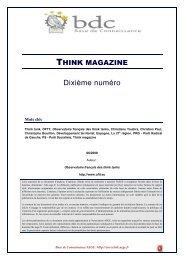 Les territoires :Think magazine - Base de connaissance AEGE