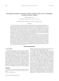 Extratropical Transition of Southwest Pacific Tropical - Embry-Riddle ...