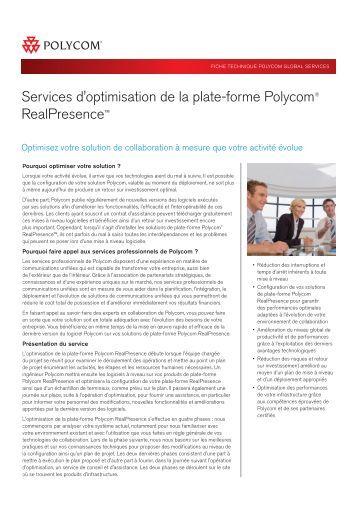 Services d'optimisation de la plate-forme Polycom® RealPresence™
