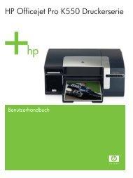 HP Officejet Pro K550 Druckerserie - Hewlett  Packard