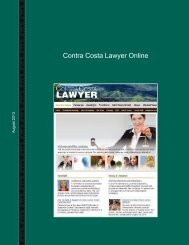 Contra Costa Lawyer Online - Contra Costa County Bar Association