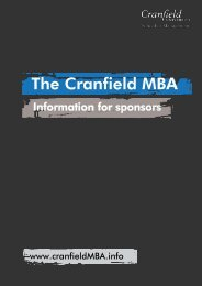 The Cranfield MBA - WiWi-Online