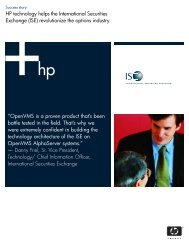 Success story - OpenVMS Systems - HP