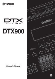 DTX900 Owner's Manual - zzounds.com