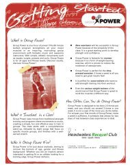 tennis · squash · fitness - Headwaters Racquet Club