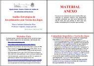Teoria dos Jogos - Anexos - IAG - A Escola de Negócios da PUC-Rio