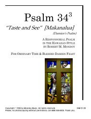 Psalm 343 - Mondoy Music