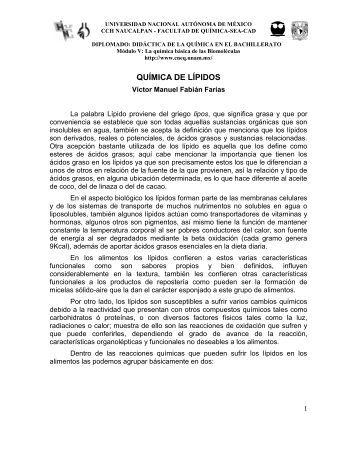 QUÍMICA DE LÍPIDOS.pdf - UNAM