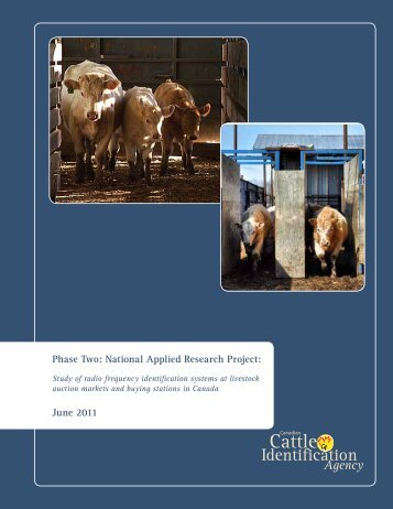 Executive Summary - Canadian Cattle Identification Agency