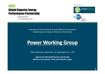 Power Working Group Overview - Clean Energy Ministerial