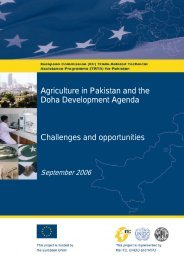 Agriculture in Pakistan and the Doha Development Agenda ... - TRTA i