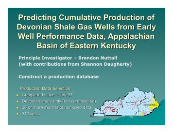 Predicting Cumulative Production of Devonian Shale Gas Wells from ...