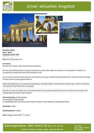 Pyronale in Berlin - Eventreisen - Trierischer Volksfreund