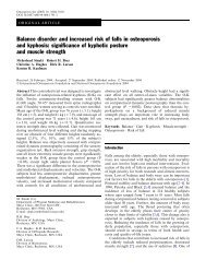 Balance disorder and increased risk of falls in osteoporosis and ...
