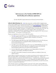 Calix Announces a New Portfolio of GPON ONTs for Multi-Dwelling ...