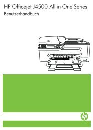 HP Officejet J4500 All-in-One series User Guide ... - Hewlett Packard