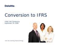 Impact of IFRS on the Securities Industry - IIROC