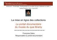 La mise en ligne des collections Le portail ... - Centre Pompidou