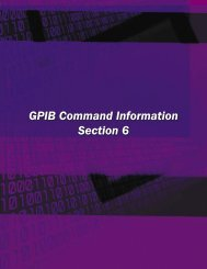 GPIB Commands Section - JFW Industries