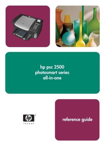 hp psc 2500 photosmart series all-in-one ... - Hewlett Packard