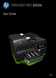 HP Officejet 8500A (A910) e-All-in-One series User Guide - ENWW