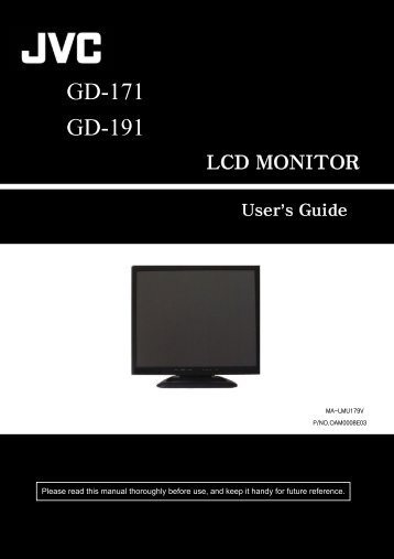 User Manual: JVC GD-171