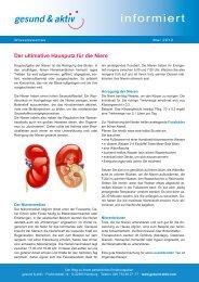 Der ultimative Hausputz fuer die Niere.indd - gesund & aktiv