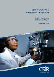 CSIR GuIde to a CaReeR In ReSeaRCh