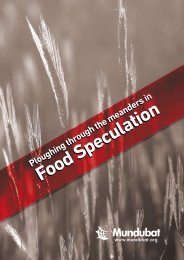 Food Speculation Food Speculation - Grain