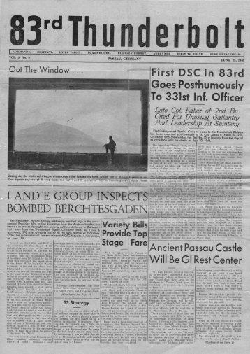 83rd Infantry Division Thunderbolt. Vol 3 No 8. June 23, 1945