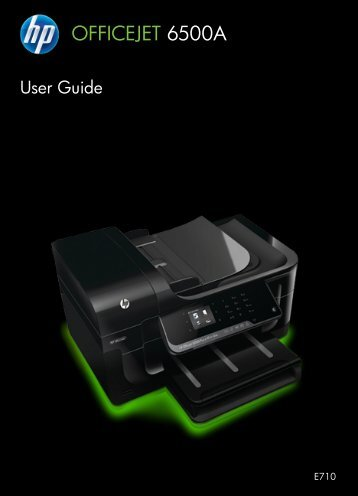 HP Officejet 6500A (E710) e-All-in-One series User Guide – ENWW