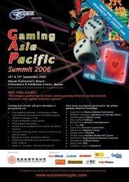 Gaming Asia Pacific Summit 2006 - Euromoney Institutional Investor ...