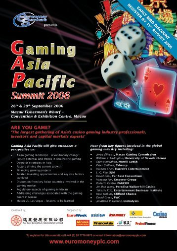 Gaming Asia Pacific Summit 2006 - Euromoney Institutional Investor ...