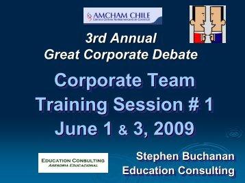 Training Session 1 - Amcham Chile