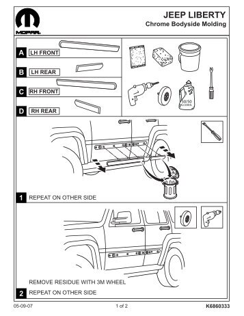 Jeep Liberty Bug Deflector Installation Instructions