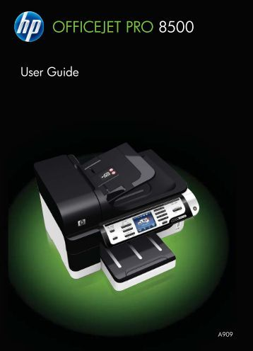 HP Officejet Pro 8500 Printer series User Guide - FTP Directory ...