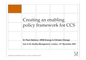 PDZ ERM Creating and Enabling Policy Framework 14_11_07 - IAQM