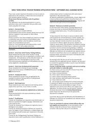 Guidance notes Early Years Teacher Application Form 2013 ...