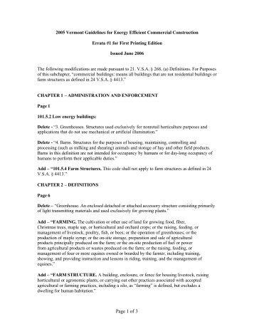 2005 VT EE GL Errata1&2 - 11-15-06 - Public Service Department