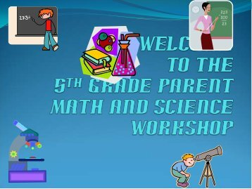 the 5th Grade Parent Math and Science Workshop - Snapper Creek ...